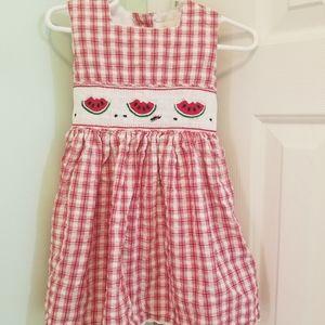 Toddler GIRLS Strasburg smocked dress 18m